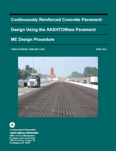 Crcpavement Org Crcp Design Using The Aashtoware Pavement Me Design Procedure Fhwa Hif 13 025