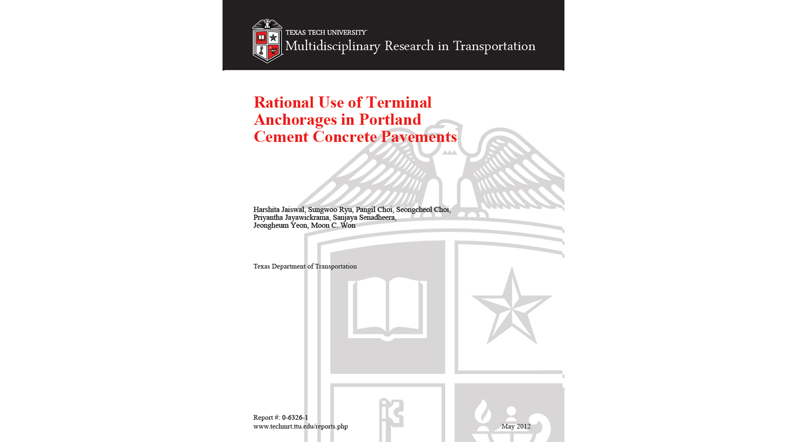 Rational Use of Terminal Anchorages (FHWA/TX-12/0-6326-1)