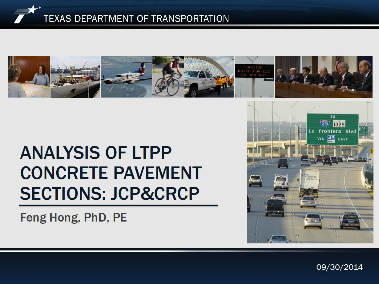 Analysis of LTPP Concrete Pavement Sections: JCP & CRCP