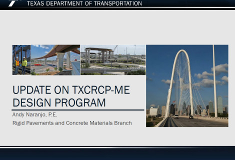 Update on TXCRCP-ME Design Program