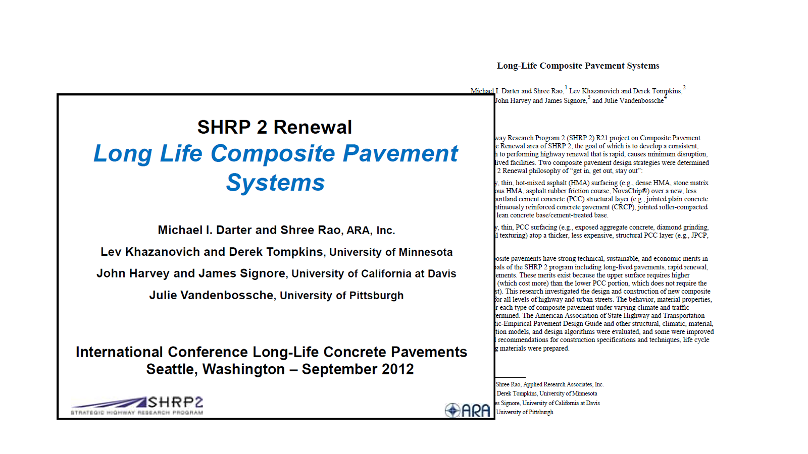 Long-Life Composite Pavement Systems