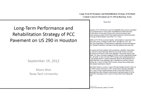 Long-Term Performance and Rehabilitation Strategy of Portland Cement Concrete Pavement on US-290 in Houston, Texas