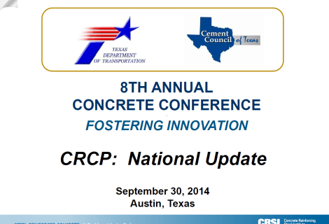 CRCP: National Update