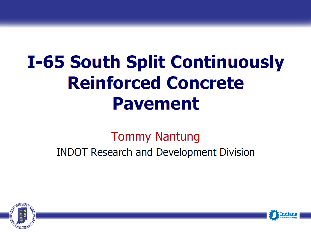 I-65 South Split Continuously Reinforced Concrete Pavement