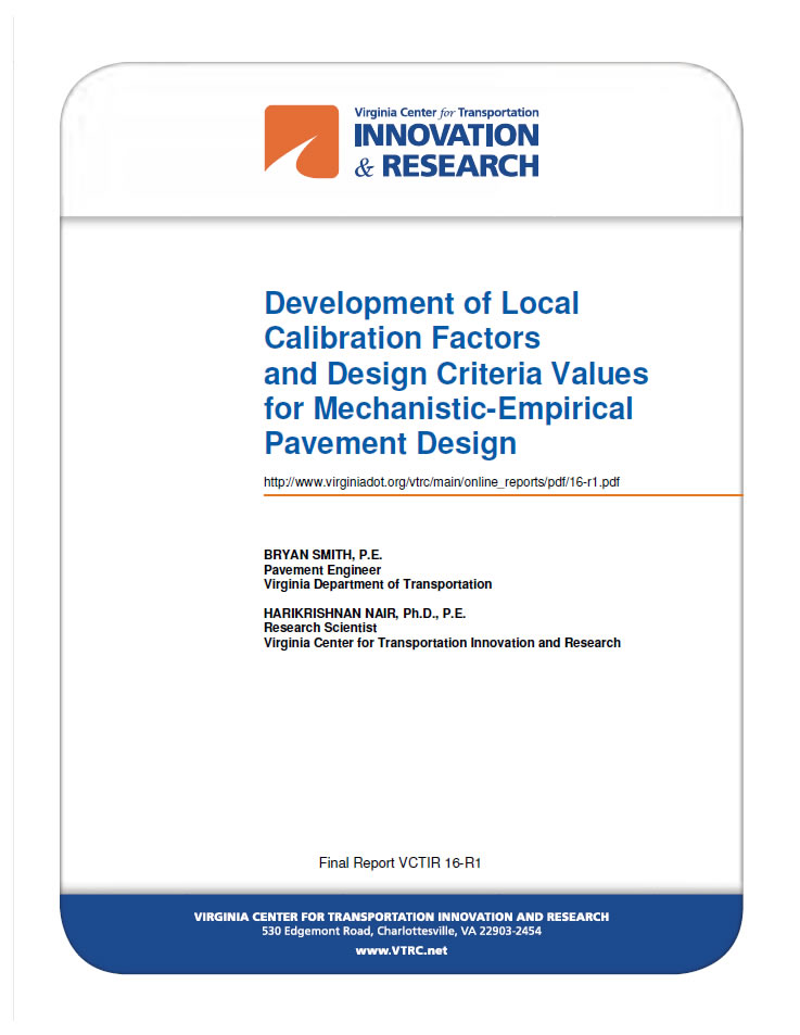 Crcpavement Org Development Of Local Calibration Factors And Design Criteria Values For Mechanistic Empirical Pavement Design